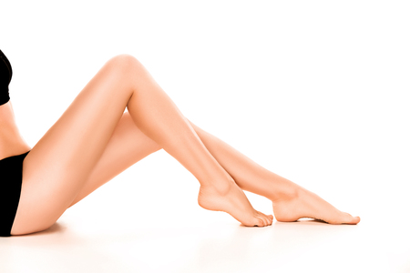 Foto de Beautiful smooth and shaved womans legs. - Imagen libre de derechos