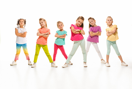 Photo pour The kids dance school, ballet, hiphop, street, funky and modern dancers - image libre de droit