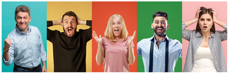 Photo for The collage of surprised people - Royalty Free Image