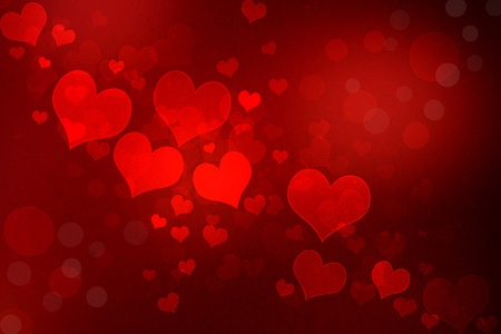 Photo for Valentine grunge heart shaped lights background - Royalty Free Image