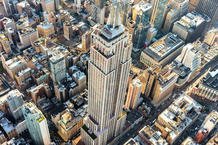 Foto für NEW YORK - JULY 02 2016: Aerial view of the Empire State building in Manhattan New York City - Lizenzfreies Bild