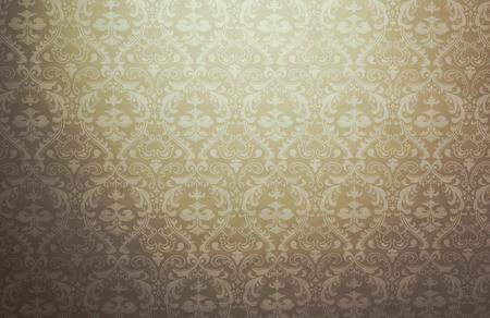 Photo pour Mediterranean geometric traditional lattice brown pattern background - image libre de droit