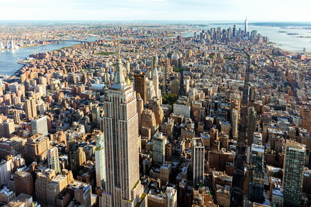 Foto für Aerial view of the skyscrapers of Midtown Manhattan New York City - Lizenzfreies Bild
