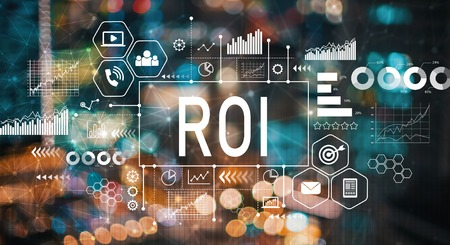 Photo for ROI with blurred city abstract lights background - Royalty Free Image