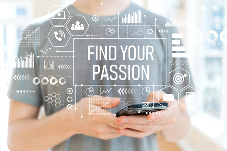 Photo for Find your passion with young man using a smartphone - Royalty Free Image