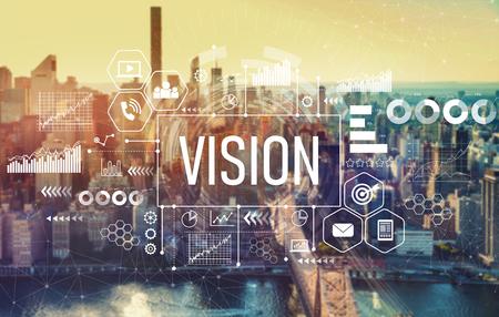 Foto de Vision with the New York City skyline near midtown - Imagen libre de derechos