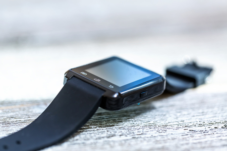 Foto per smartwatch on a bright interior room background - Immagine Royalty Free