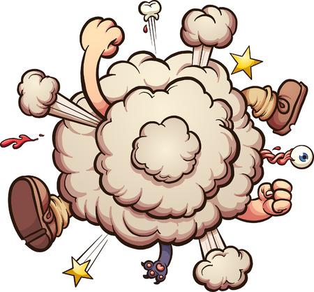 Ilustración de Cartoon brawl cloud. Vector clip art illustration with simple gradients. All in a single layer. - Imagen libre de derechos