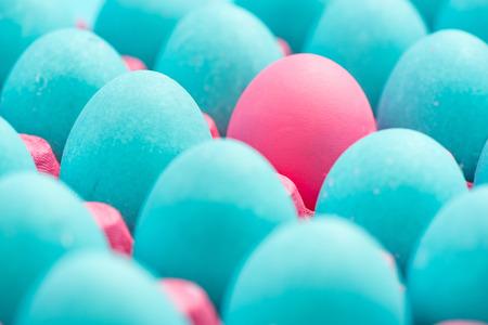 Foto de Be different conceptual visual art of eggs. - Imagen libre de derechos