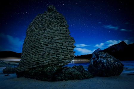 Photo pour Perseid Meteor Shower and the Milky Way. - image libre de droit