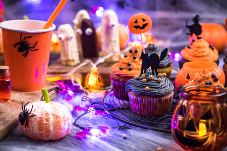 Photo for Homemade festive food for Halloween. - Royalty Free Image
