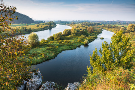 Photo pour Vistula river near Cracow in Poland. - image libre de droit