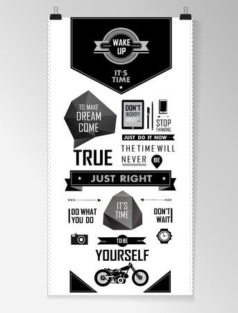Ilustración de Modern black Quote infographic  Background, typography - Imagen libre de derechos