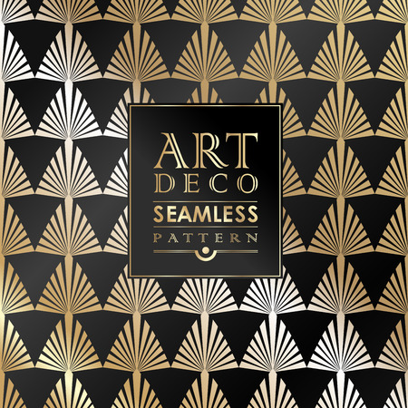 Ilustración de Art Deco seamless vintage wallpaper pattern can be used for invitation, congratulation - Imagen libre de derechos