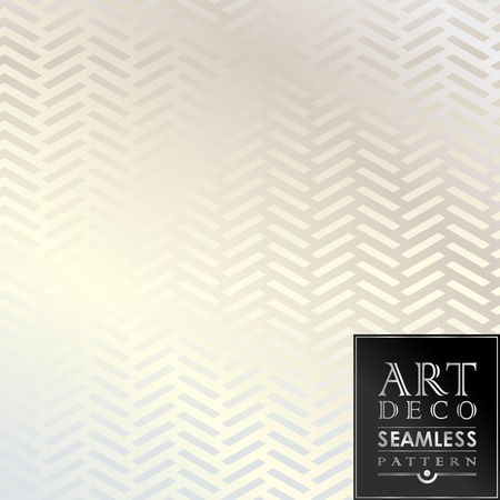 Illustration for Art Deco seamless vintage wallpaper pattern can be used for invitation, congratulation - Royalty Free Image