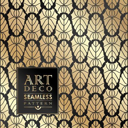 Ilustración de Art Deco vintage wallpaper pattern can be used for invitation, congratulation - Imagen libre de derechos