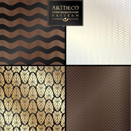 Illustration pour Art Deco vintage wallpaper pattern can be used for invitation, congratulation - image libre de droit