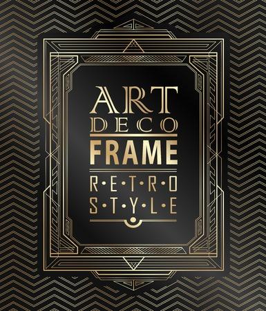 Ilustración de Art deco geometric vintage frame can be used for invitation, congratulation - Imagen libre de derechos
