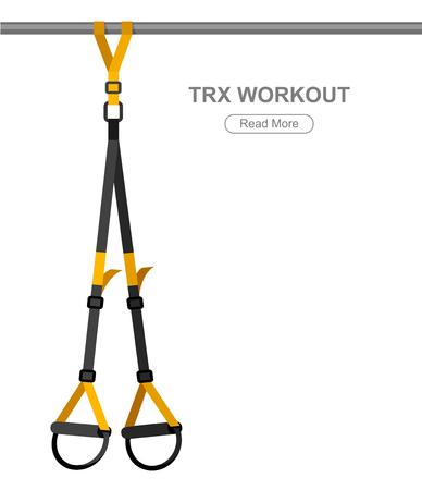 Ilustración de TPX loop training equipment. Sport vector concept - Imagen libre de derechos