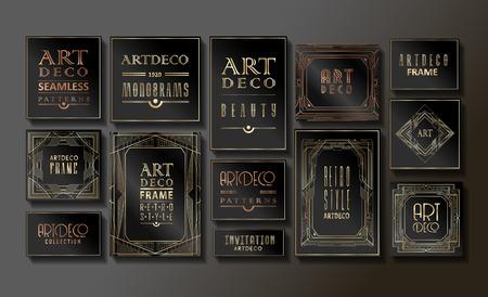 Ilustración de Luxury Vintage Artdeco Frame Design. Vector illustration - Imagen libre de derechos