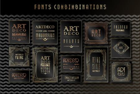 Illustration for Luxury Vintage Artdeco Frame Design. Vector illustration - Royalty Free Image