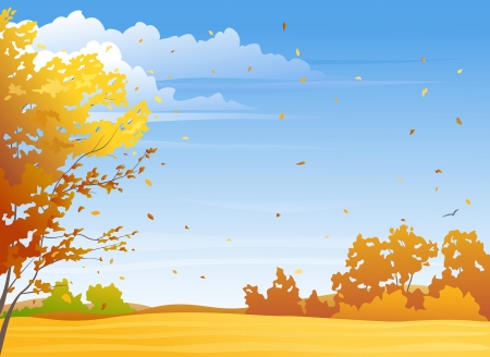 Illustration pour illustration of a nice autumn day - image libre de droit