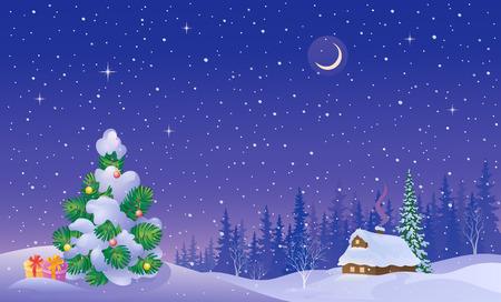 Illustration pour winter scenery - image libre de droit