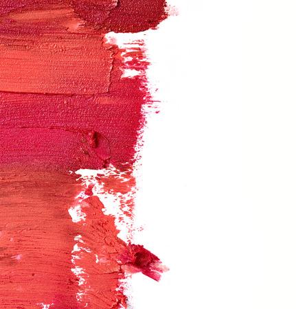 Photo pour Smudged lipstick isolated on white background - image libre de droit