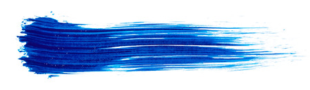 Photo for Stroke of blue paint isolated on white  - Royalty Free Image