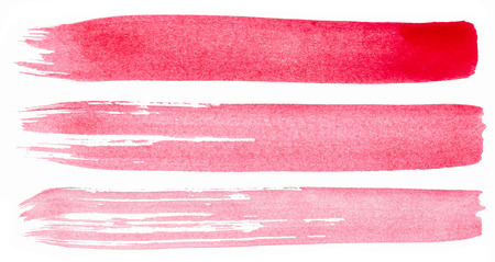 Photo pour Strokes of pink paint isolated on white background - image libre de droit