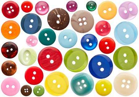 Foto de Set of sewing buttons isolated on white background - Imagen libre de derechos