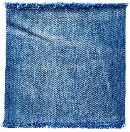 Photo pour Jeans fabric isolated on white background - image libre de droit