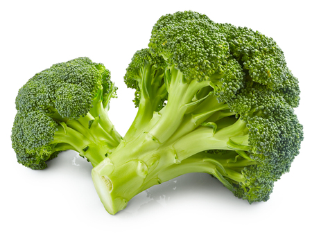 Photo pour Fresh broccoli isolated on white background - image libre de droit
