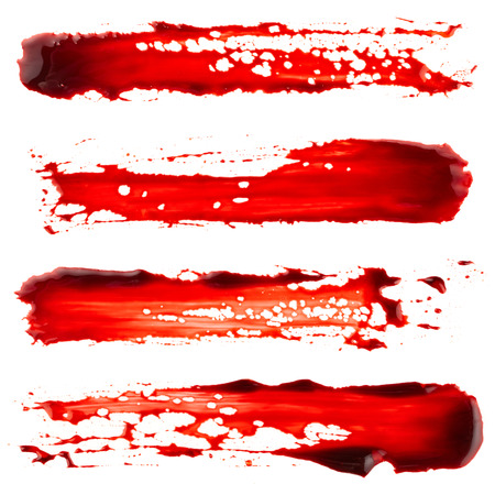 Photo for Set of bloodstain isolated on white background - Royalty Free Image
