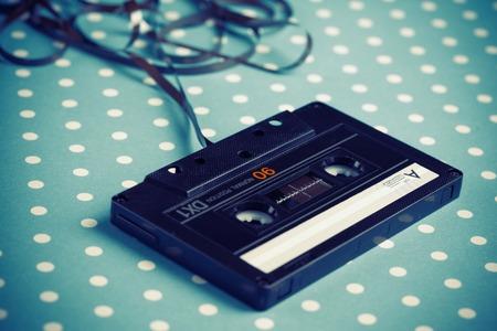 Photo pour Audio tape cassette with subtracted out tape  - image libre de droit