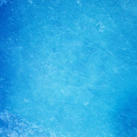 Textured ice blue frozen rink winter background