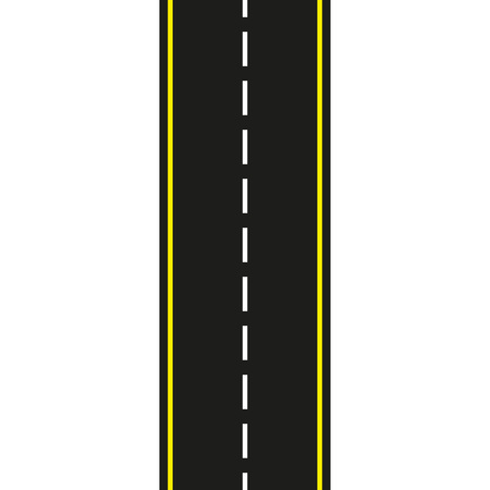 Illustration pour Asphalt road. Seamless road isolated on white background. Vector illustration. - image libre de droit
