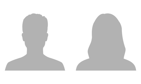 Illustration pour Man and woman avatar profile. Male and Female face silhouette or icon. Vector illustration. - image libre de droit