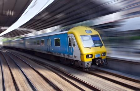 High-speed train in motion, Kuala Lumpur, Malaysia