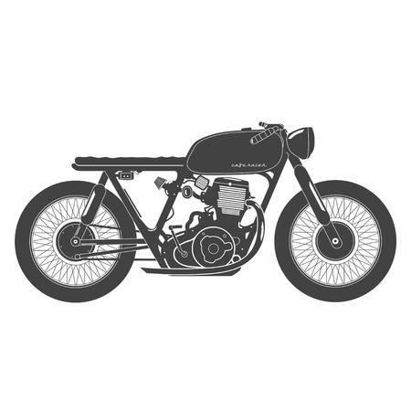 Illustration pour Old vintage motorcycle. cafe racer theme. - image libre de droit