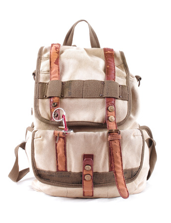 Foto de travel backpack isolated on a white background - Imagen libre de derechos