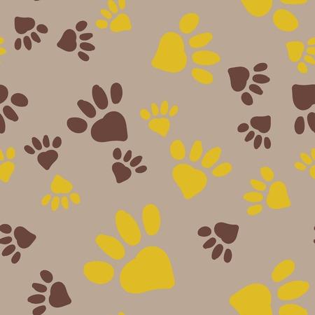 Ilustración de Animal Foot Prints. - Imagen libre de derechos