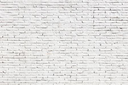 Foto de White blank brick wall surface - Imagen libre de derechos