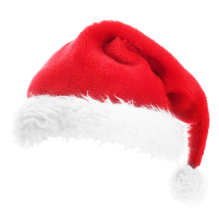 Foto de Christmas Santa hat isolated on white background - Imagen libre de derechos
