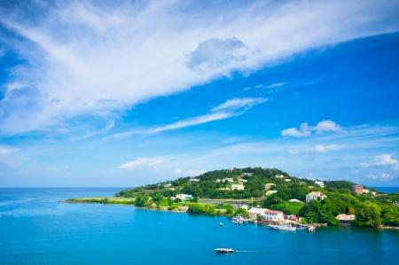 Photo pour Beautiful view of Saint Lucia, Caribbean Islands - image libre de droit