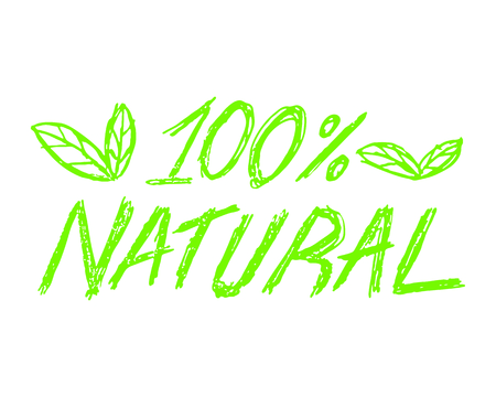 Ilustración de 100% natural icon vector illustration on white background. - Imagen libre de derechos