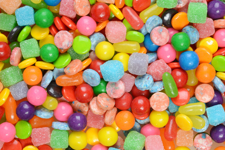 Photo for closeup of mixed candies - Royalty Free Image