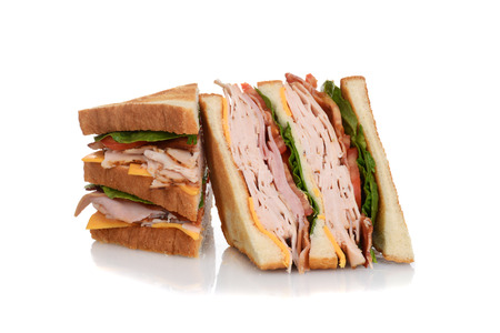 Photo for sliced chicken club sandwich - Royalty Free Image