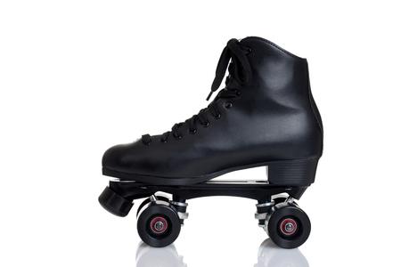 Photo pour side view men's quad roller skate - image libre de droit