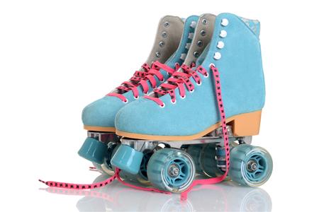 Photo pour women blue quad roller skates - image libre de droit